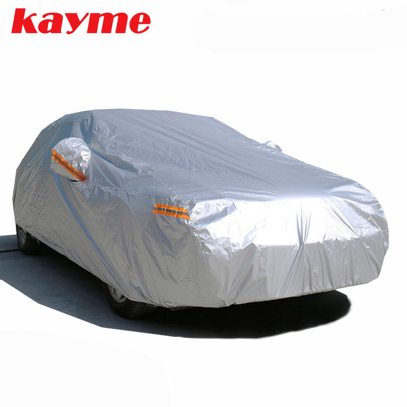 Waterproof Car Cover >> Kayme Waterproof Car Covers Outdoor Sun Protection Cover For Car Reflector Dust Rain Snow Protective Suv Sedan Hatchback Full S Automobile